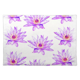 lotus flowers cream inky placemat
