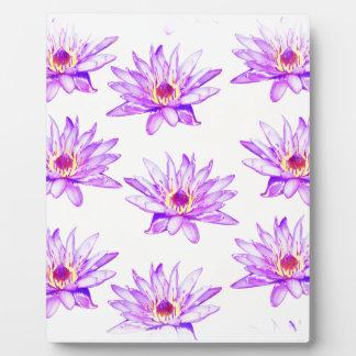 lotus flowers cream inky plaque