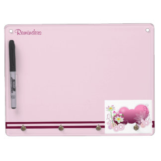 Lotus Flowers Dry Erase Board With Keychain Holder
