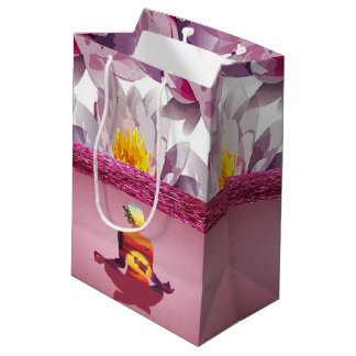 Lotus Flowers Meditation Lady Medium Gift Bag