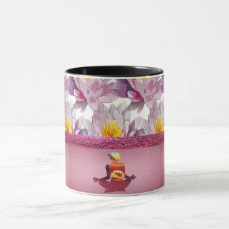 Lotus Flowers Meditation Lady Mug