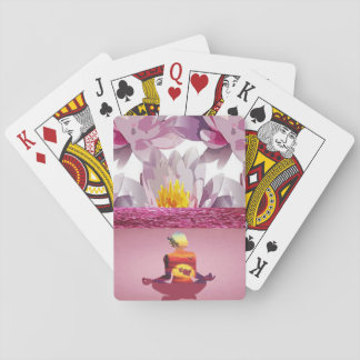 Lotus Flowers Meditation Lady Playing Cards