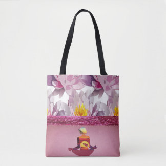 Lotus Flowers Meditation Lady Tote Bag