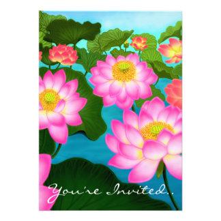 Lotus Flowers Party Invitation