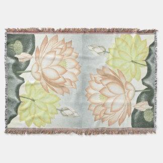 Lotus Flowers Throw Blanket