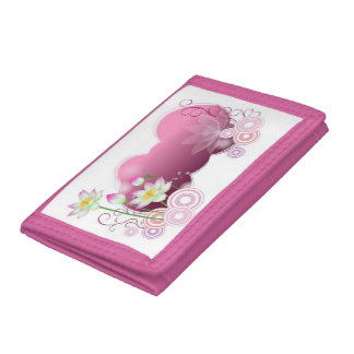 Lotus Flowers Trifold Wallet