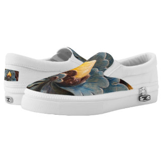 Lotus Flwr Custom Zipz Slip On Shoes,  Men & Women