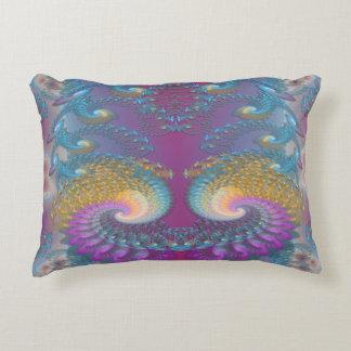 Lotus Fractal Art Accent Pillow
