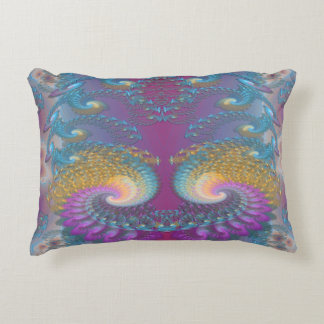 Lotus Fractal Art Decorative Pillow