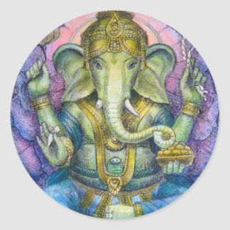 Lotus Ganesha Sticker
