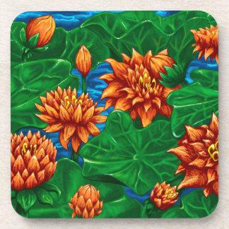 Lotus Garden Coaster Set of 6