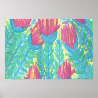 Lotus Garden Watercolor Art Print