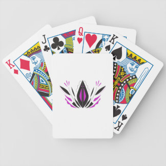 LOTUS hand painted blackwhite Bicycle Playing Cards
