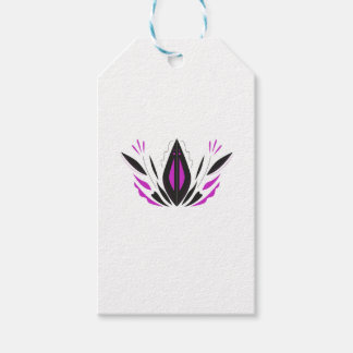 LOTUS hand painted blackwhite Gift Tags