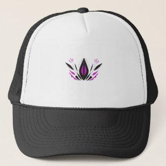 LOTUS hand painted blackwhite Trucker Hat