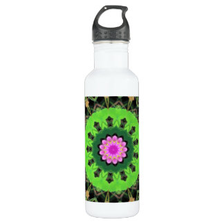 Lotus Kaleidoscope , 24 oz Water Bottle