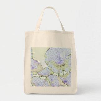 Lotus leaves tote bag