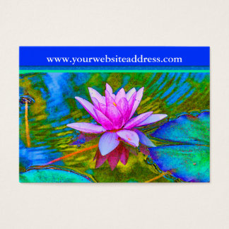 Lotus Lily Flower - Yoga Studio, Spa, Beauty Salon Business Card