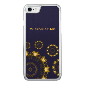 Lotus Mandala (Henna) (Golden) Carved iPhone 7 Case