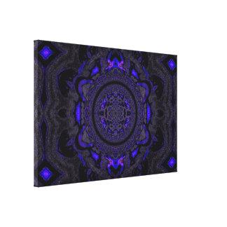 Lotus Mandala in Purple and Black Pastels C1 SDL Canvas Print