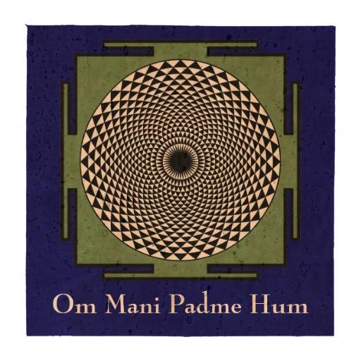 Lotus mandala Om Mani Padme Hum chant Drink Coasters