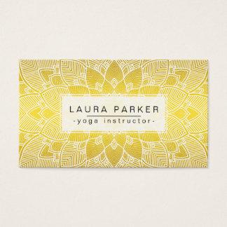 Lotus Mandala Yoga Instructor Yellow Gold  Fitness Business Card