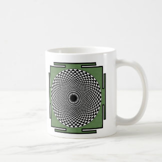 Lotus meditation dharma wheel coffee mug