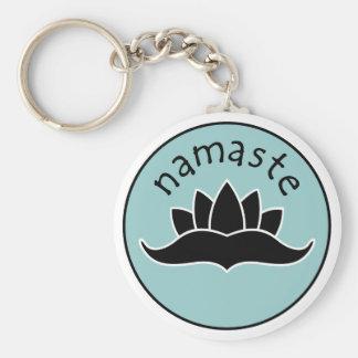 Lotus Namaste Keychain