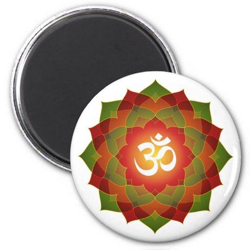 Lotus Om Design Magnets