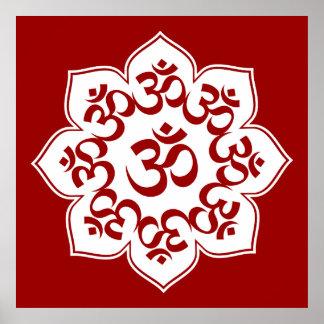 Lotus Om Design Poster