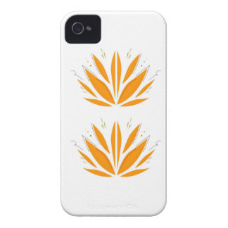 Lotus orange on white iPhone 4 case