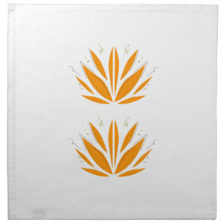 Lotus orange on white napkin