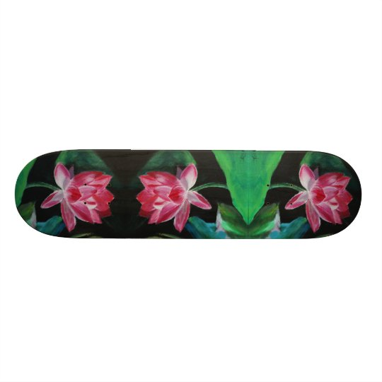 Lotus Painting Skateboard