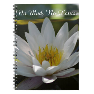 Lotus Photo print with saying notebook