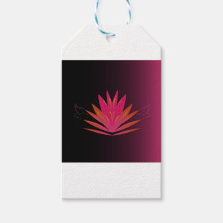 Lotus pink on black gift tags