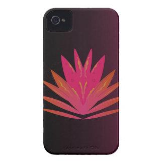 Lotus pink on black iPhone 4 case