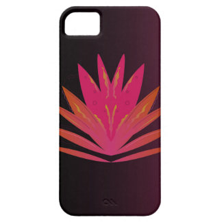 Lotus pink on black iPhone 5 cases