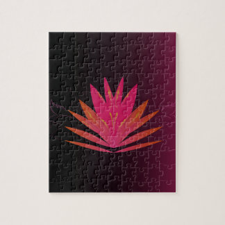 Lotus pink on black jigsaw puzzle