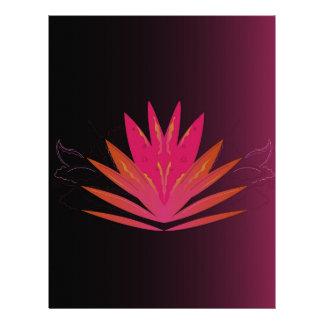 Lotus pink on black letterhead