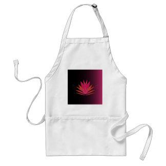 Lotus pink on black standard apron