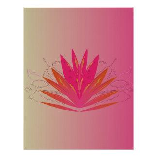 Lotus pinkorange letterhead