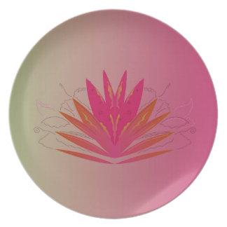 Lotus pinkorange plate