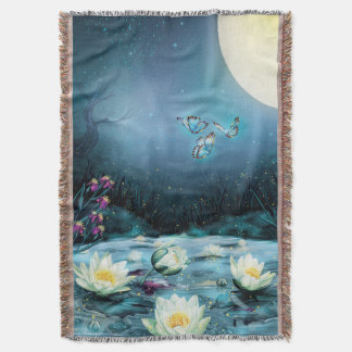 Lotus Pond Throw Blanket