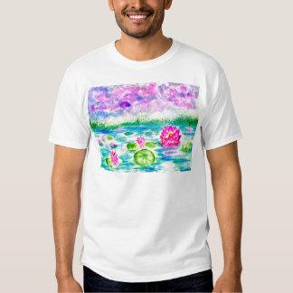 Lotus Pond Watercolor Shirt