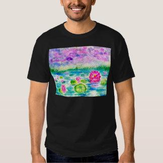 Lotus Pond Watercolor T-shirt