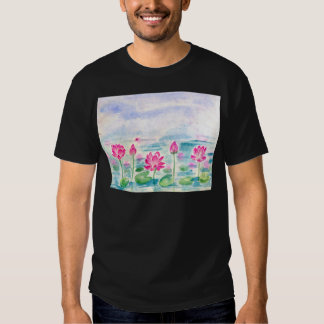 Lotus Pond Watercolor T-shirts