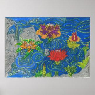 Lotus quietly Life Nr.5 Poster