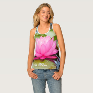 lotus racerback yoga tank