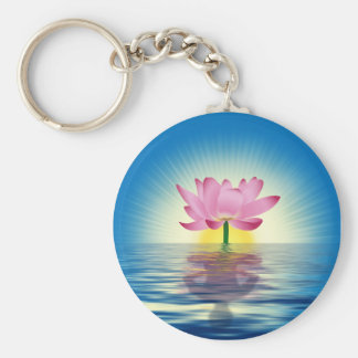 Lotus Reflection Keychain