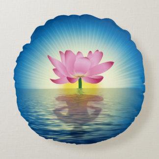 Lotus Reflection Round Pillow